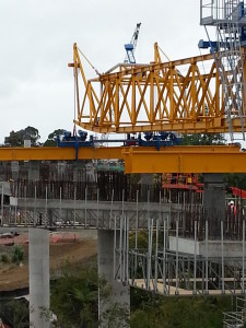 DEAL launching gantry during operations testing